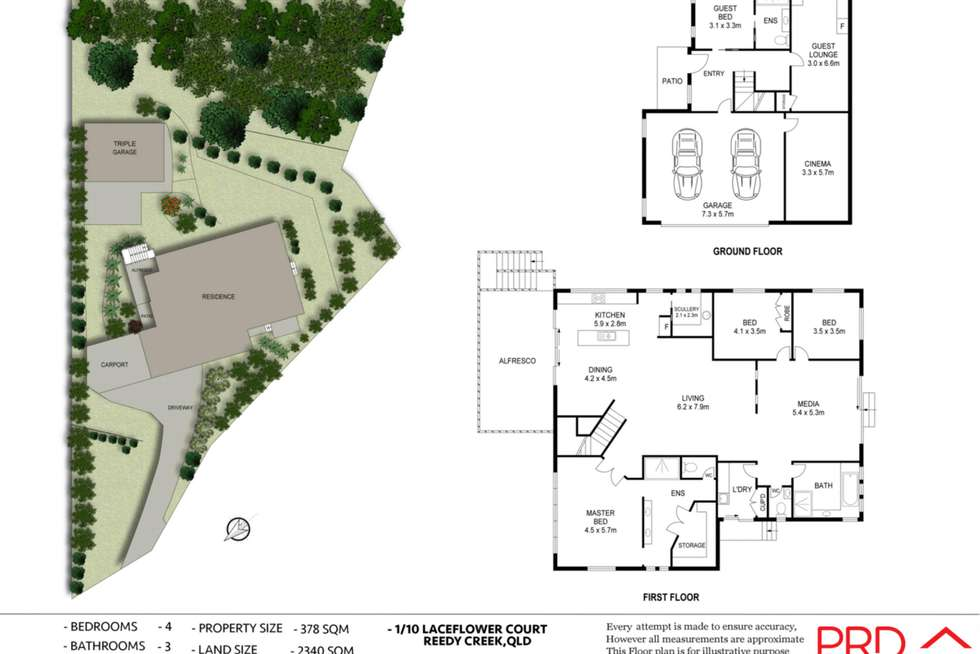 Floorplan of Homely house listing, 1/10 Laceflower Court, Reedy Creek QLD 4227