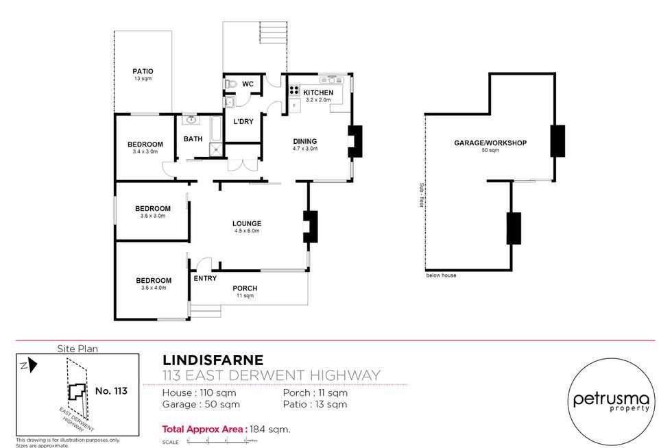 Floorplan of Homely house listing, 113 East Derwent Highway, Lindisfarne TAS 7015