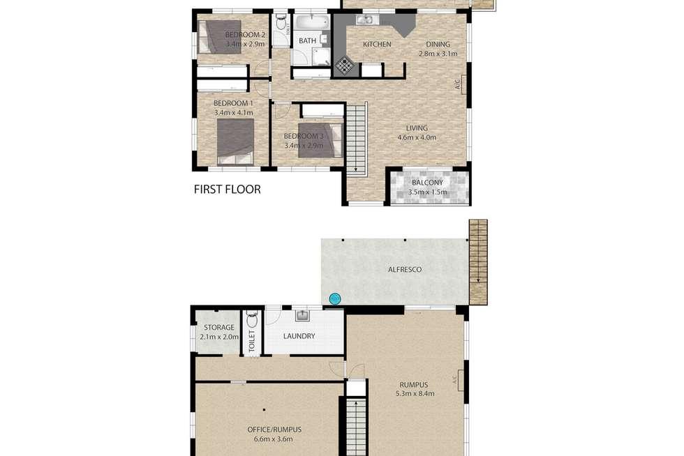 Floorplan of Homely house listing, 18 Sandringham  Street, Alexandra Hills QLD 4161