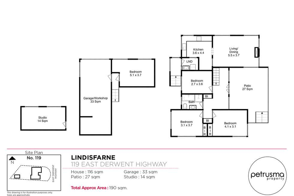 Floorplan of Homely house listing, 119 East Derwent Highway, Lindisfarne TAS 7015