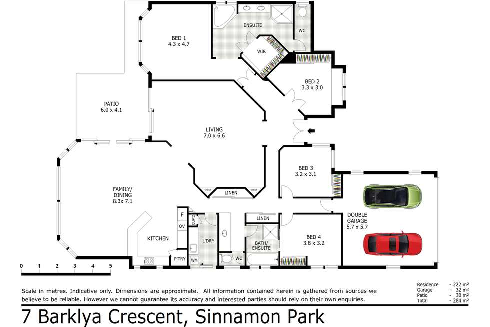 Floorplan of Homely house listing, 22 Barklya Crescent, Sinnamon Park QLD 4073