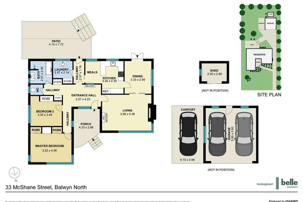 Floorplan of Homely house listing, 33 McShane Street, Balwyn North VIC 3104