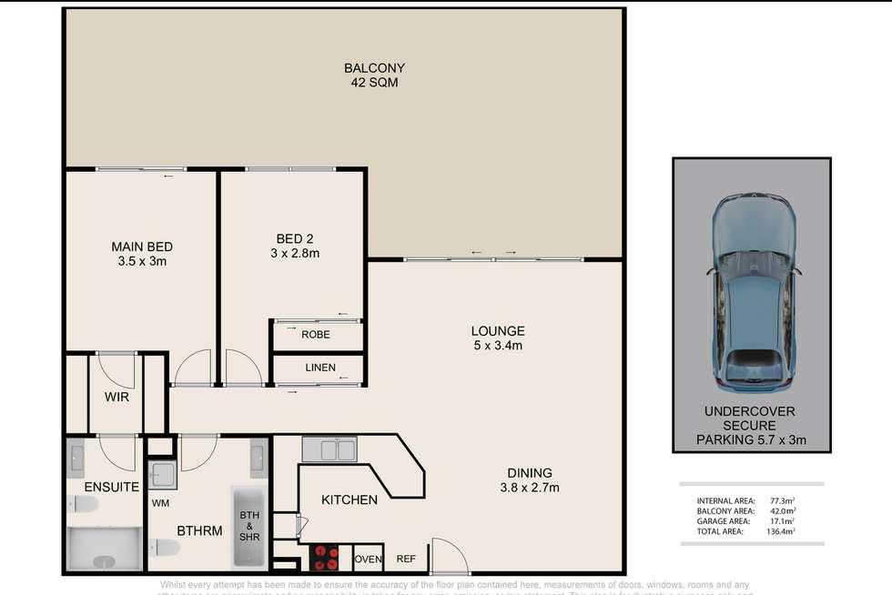 Floorplan of Homely unit listing, 4/6 Back Street, Biggera Waters QLD 4216