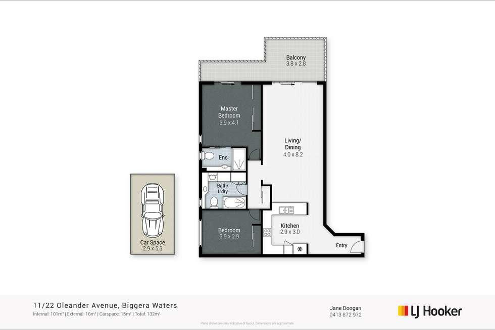 Floorplan of Homely unit listing, 11/22 Oleander Avenue, Biggera Waters QLD 4216