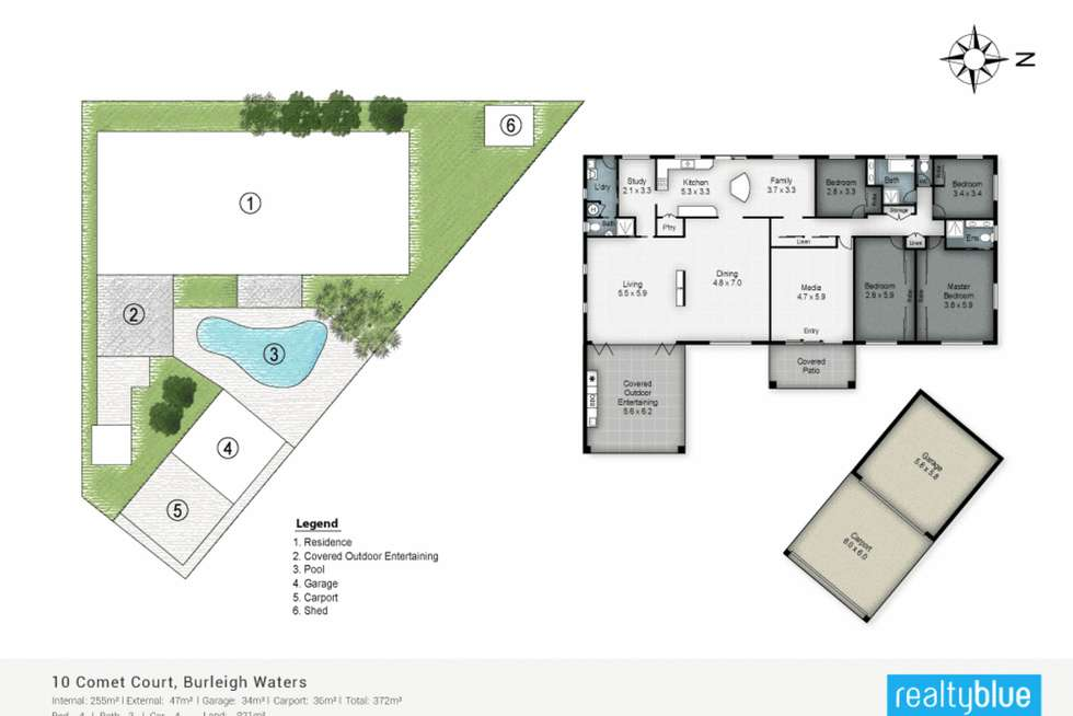 Floorplan of Homely house listing, 10 Comet Court, Burleigh Waters QLD 4220