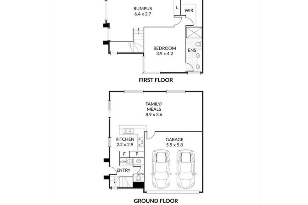 Floorplan of Homely townhouse listing, 1/8 Cardigan Avenue, Felixstow SA 5070
