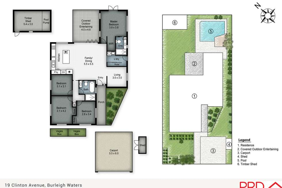Floorplan of Homely house listing, 19 Clinton Avenue, Burleigh Waters QLD 4220