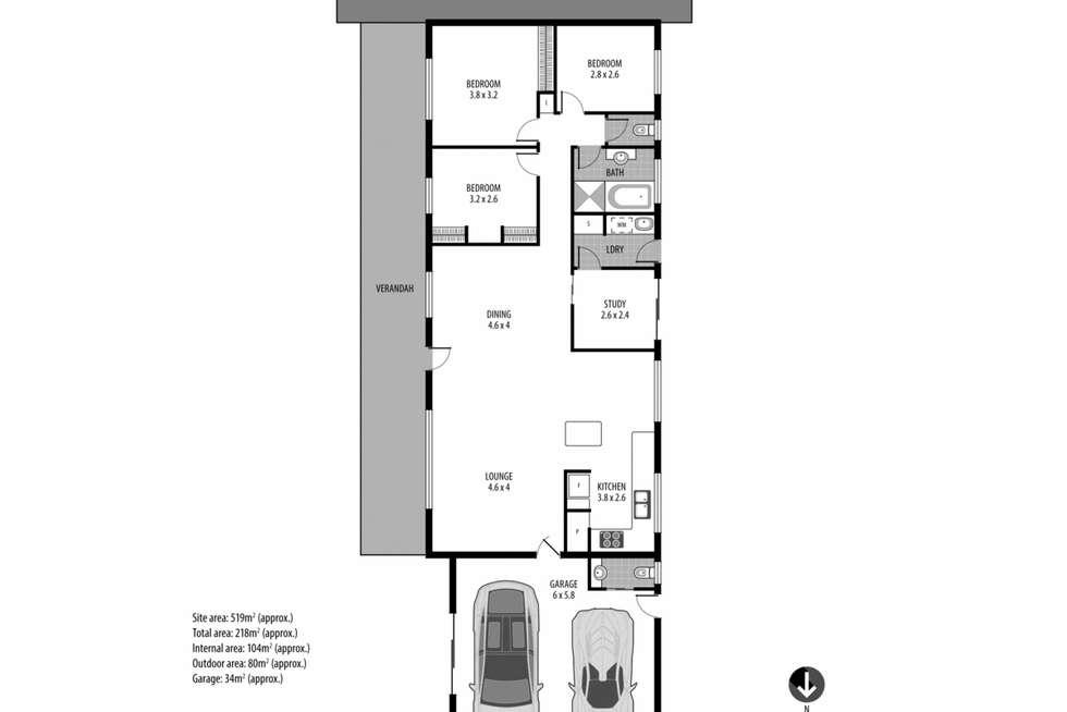 Floorplan of Homely house listing, 40 Lakala Avenue, Springfield NSW 2250