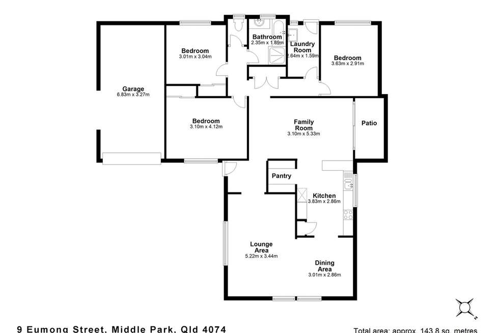 Floorplan of Homely house listing, 9 Eumong Street, Middle Park QLD 4074