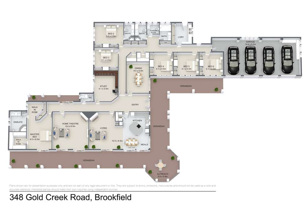 Floorplan of Homely acreageSemiRural listing, 348 Gold Creek Road, Brookfield QLD 4069