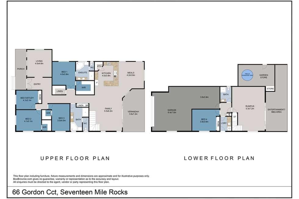 Floorplan of Homely house listing, 66 Gordon Circuit, Seventeen Mile Rocks QLD 4073