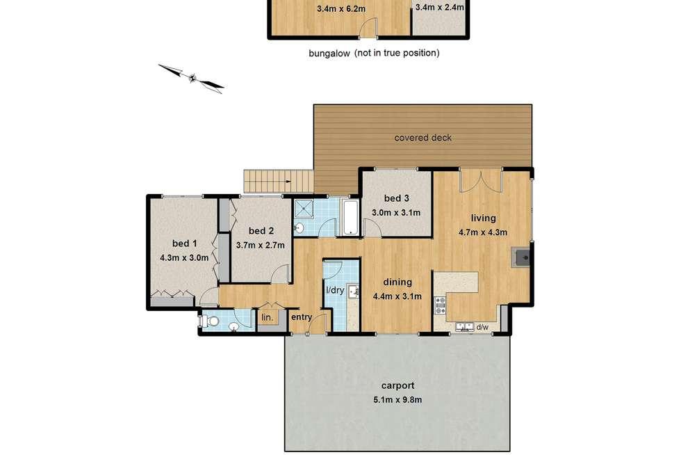 Floorplan of Homely house listing, 14 Caroline Crescent, Emerald VIC 3782
