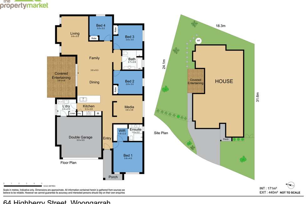 Floorplan of Homely house listing, 64 Highberry Street, Woongarrah NSW 2259
