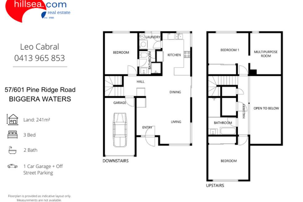 Floorplan of Homely townhouse listing, 57/601 Pine Ridge Road, Biggera Waters QLD 4216