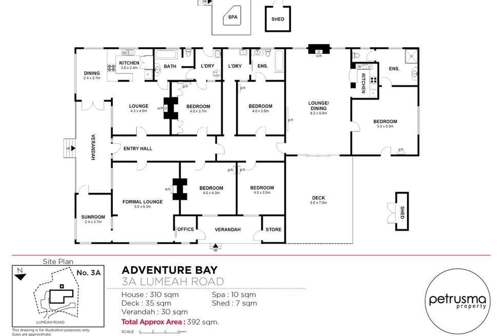 Floorplan of Homely house listing, 3A Lumeah Road, Adventure Bay TAS 7150