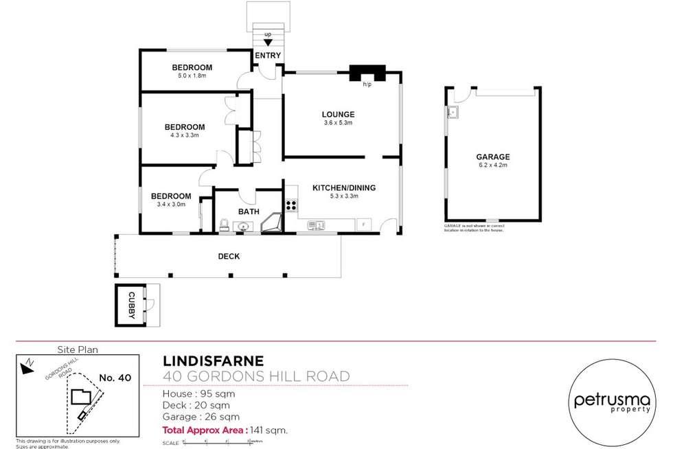 Floorplan of Homely house listing, 40 Gordons Hill Road, Lindisfarne TAS 7015