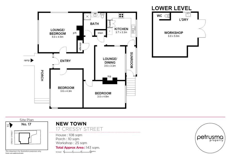 Floorplan of Homely house listing, 17 Cressy Street, New Town TAS 7008