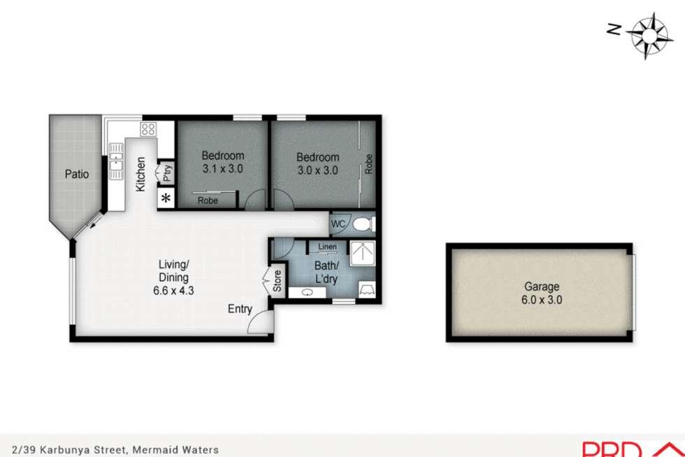 Floorplan of Homely townhouse listing, 2/39 Karbunya Street, Mermaid Waters QLD 4218