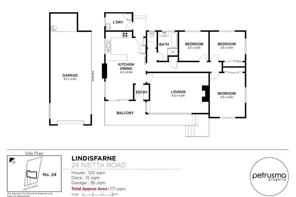 Floorplan of Homely house listing, 24 Nietta Road, Lindisfarne TAS 7015