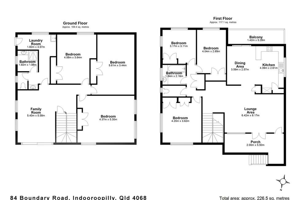 Floorplan of Homely house listing, 84 Boundary Road, Indooroopilly QLD 4068