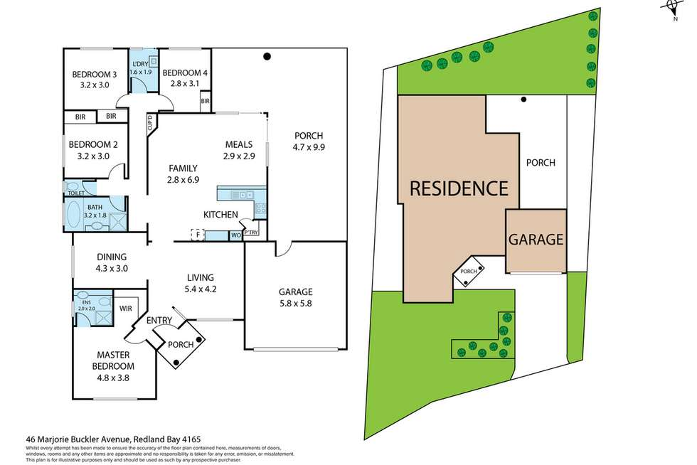 Floorplan of Homely house listing, 46 Marjorie Buckler Avenue, Redland Bay QLD 4165