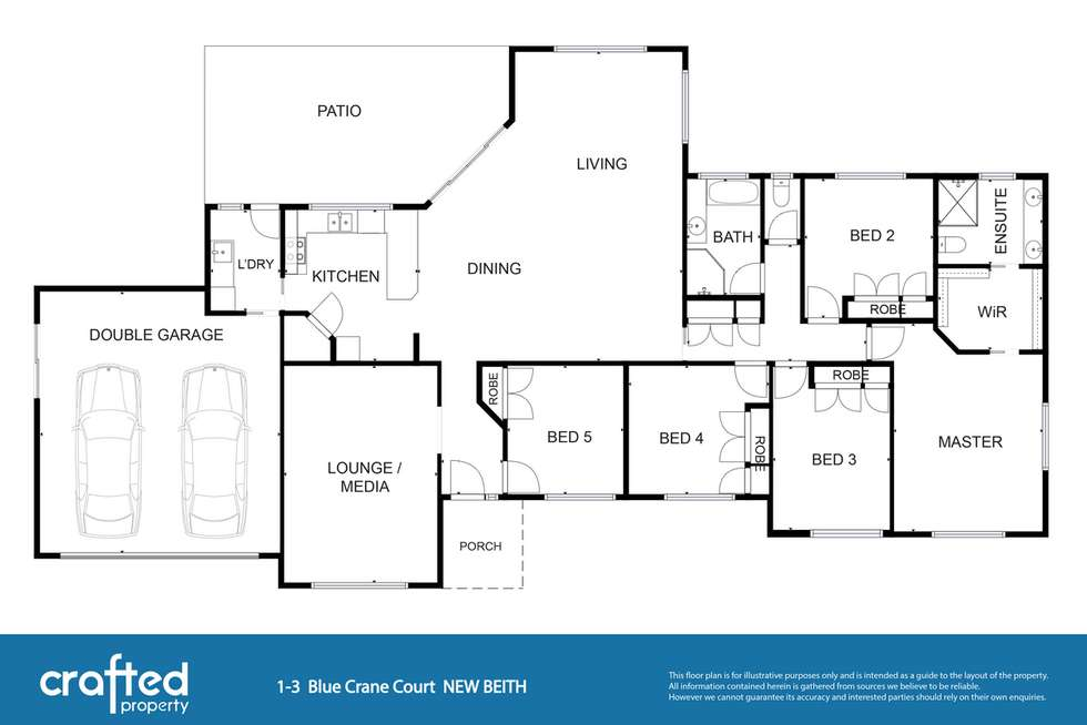 Floorplan of Homely house listing, 1 Blue Crane Court, New Beith QLD 4124
