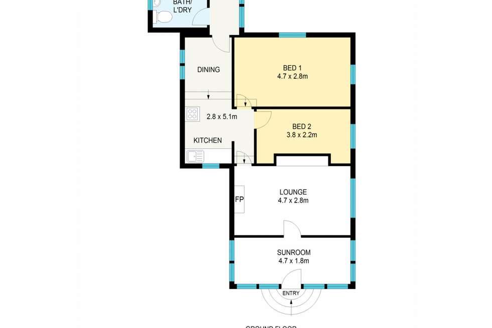 Floorplan of Homely house listing, 57 Twynam Street, Katoomba NSW 2780