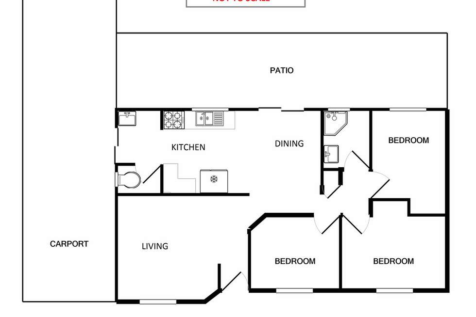 Floorplan of Homely house listing, 11 Finch Close, Langford WA 6147