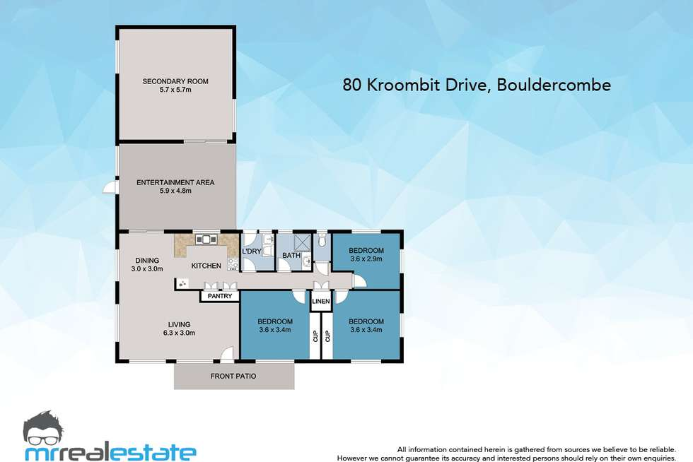 Floorplan of Homely house listing, 80 Kroombit Drive, Bouldercombe QLD 4702