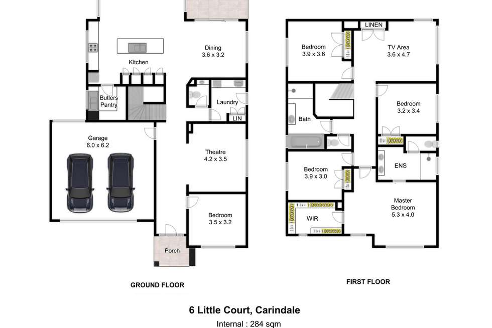 Floorplan of Homely house listing, 6 Little Court, Carindale QLD 4152