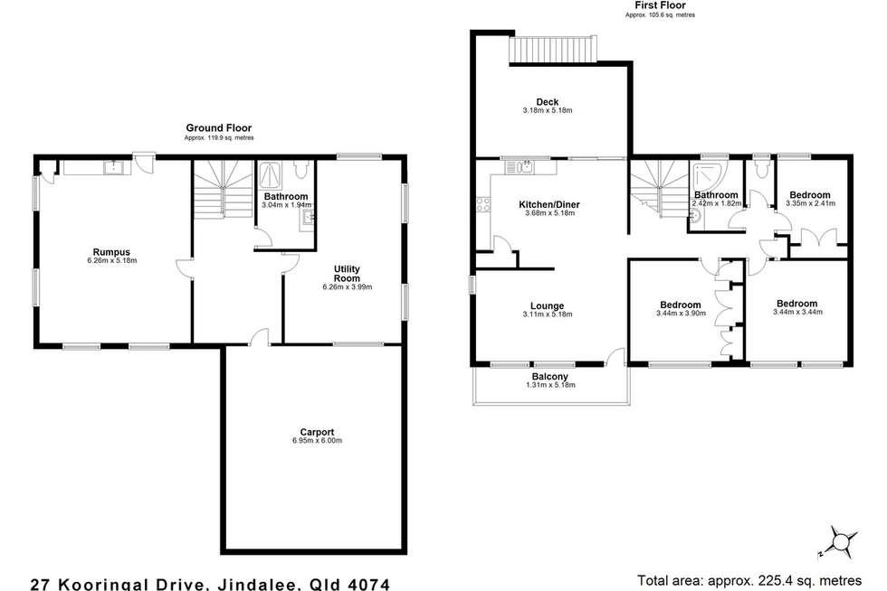 Floorplan of Homely house listing, 27 Kooringal Drive, Jindalee QLD 4074