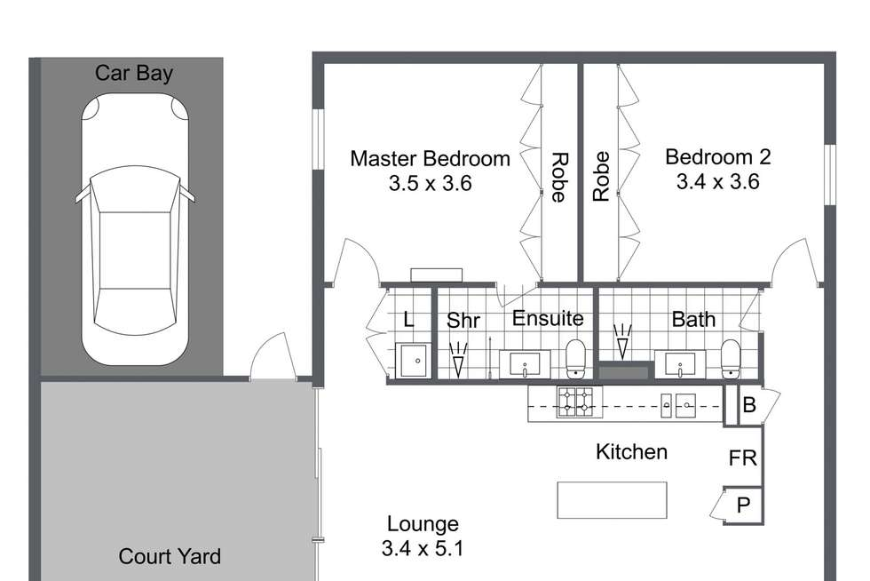 Floorplan of Homely flat listing, 3/17 Amherst Street, Fremantle WA 6160