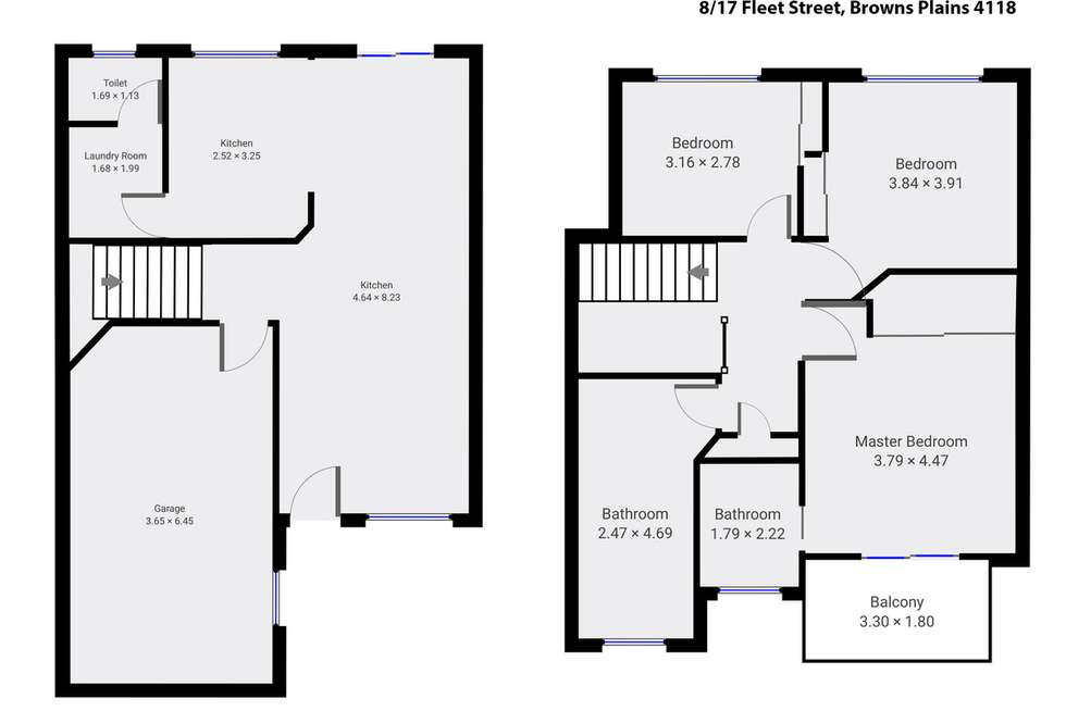Floorplan of Homely townhouse listing, 8/17 Fleet Street, Browns Plains QLD 4118