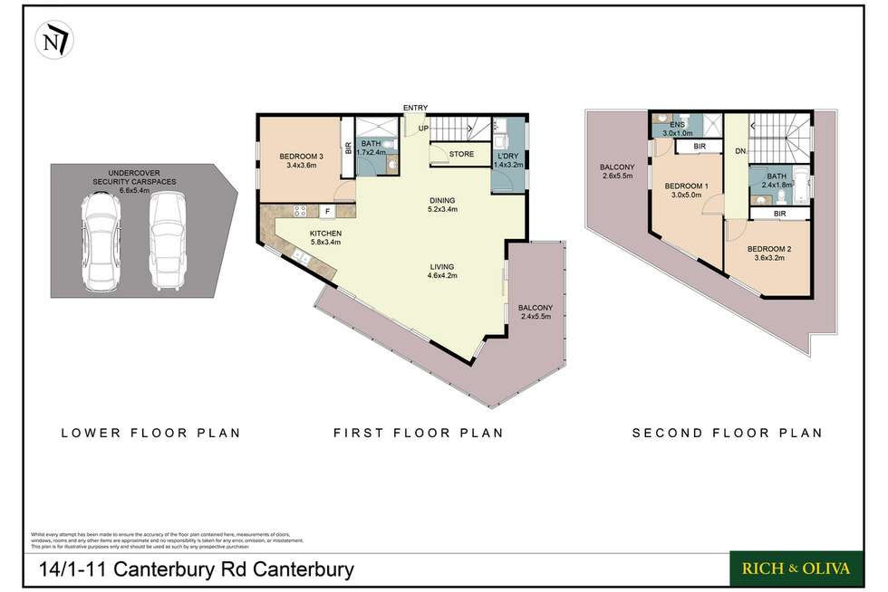 Floorplan of Homely apartment listing, 14/1-11 Canterbury Road, Canterbury NSW 2193