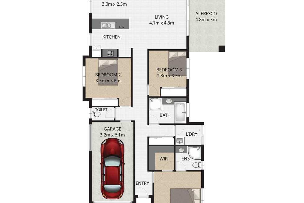 Floorplan of Homely house listing, 6/580 Main Road, Wellington Point QLD 4160