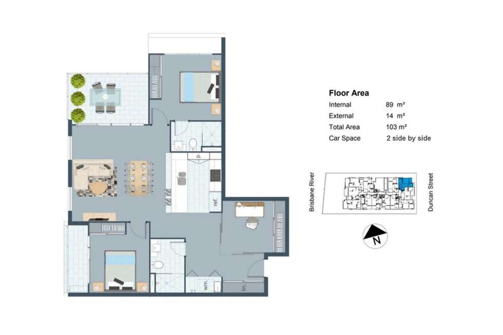 Floorplan of Homely apartment listing, 706/25 Duncan Street, West End QLD 4101