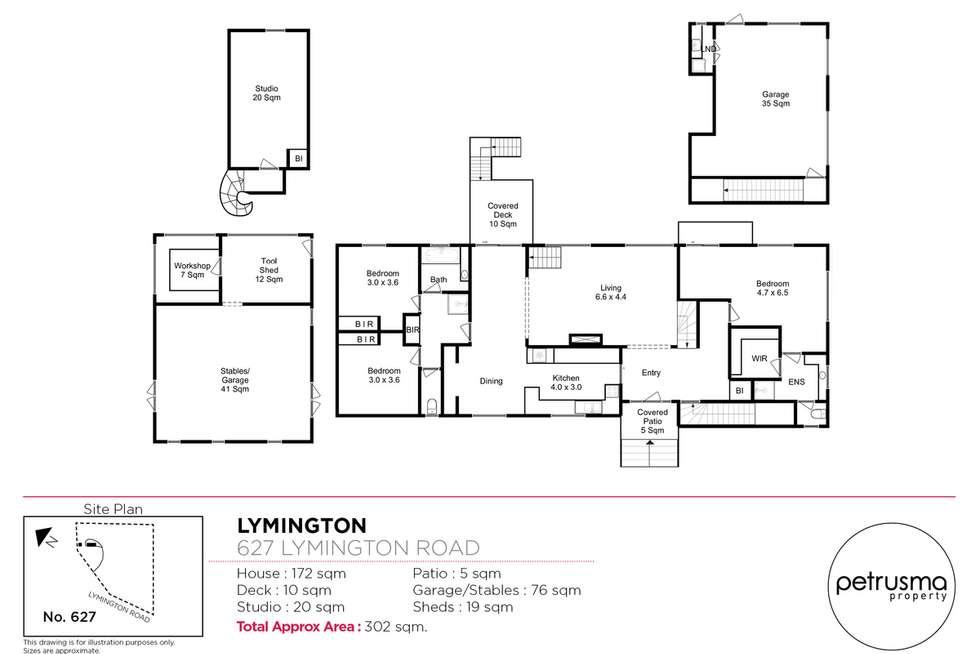 Floorplan of Homely house listing, 627 Lymington Road, Lymington TAS 7109