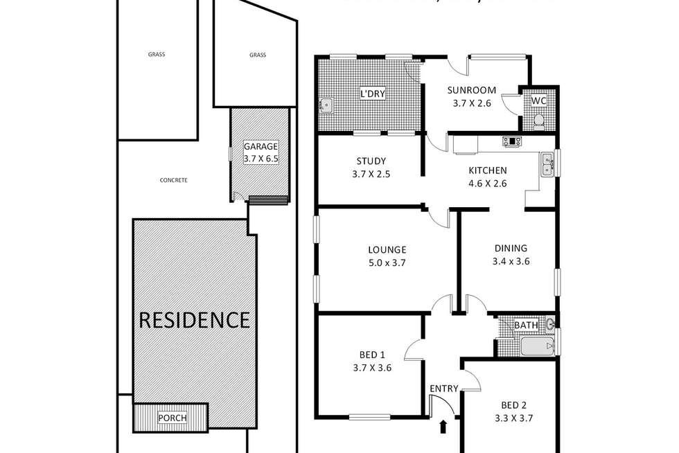 Floorplan of Homely house listing, 60 Beaufort Street, Croydon Park NSW 2133