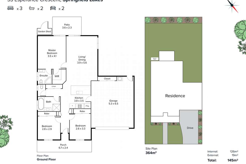 Floorplan of Homely house listing, 33 Esperance Crescent, Springfield Lakes QLD 4300