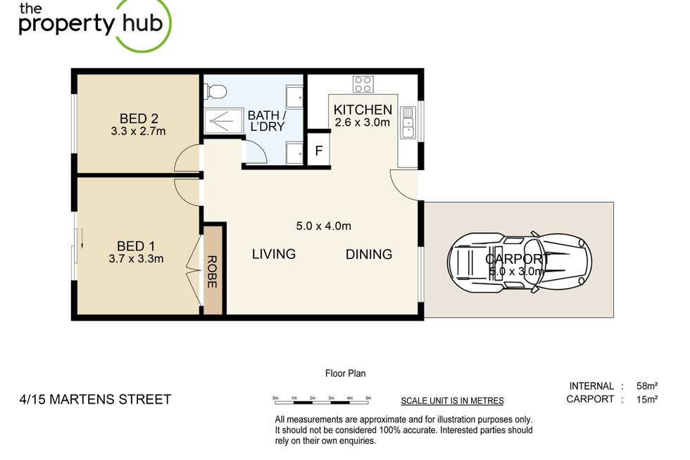 Floorplan of Homely unit listing, 4/15 Martens Street, Mount Warren Park QLD 4207