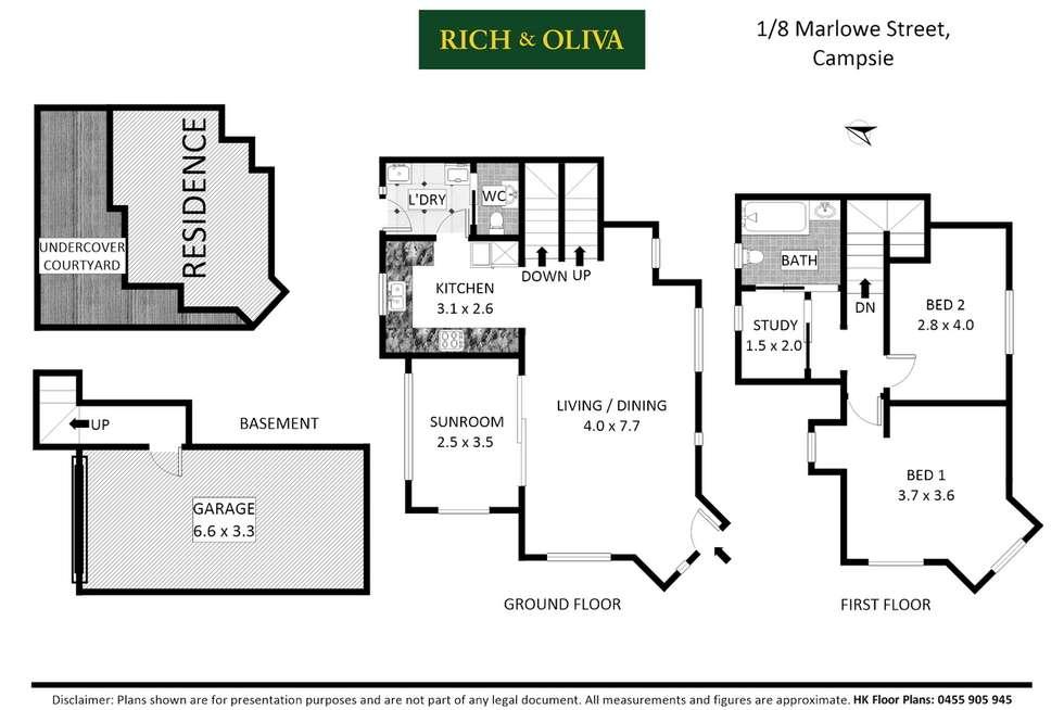 Floorplan of Homely townhouse listing, 1/8 Marlowe Street, Campsie NSW 2194