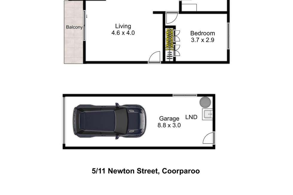 Floorplan of Homely unit listing, 5/11 Newton Street, Coorparoo QLD 4151