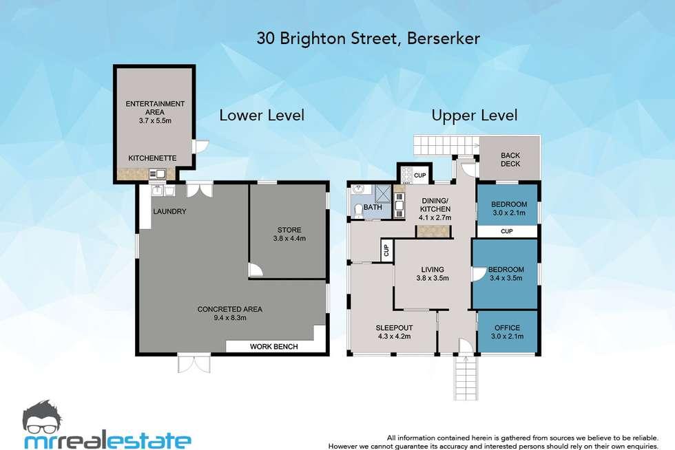 Floorplan of Homely house listing, 30 Brighton Street, Berserker QLD 4701