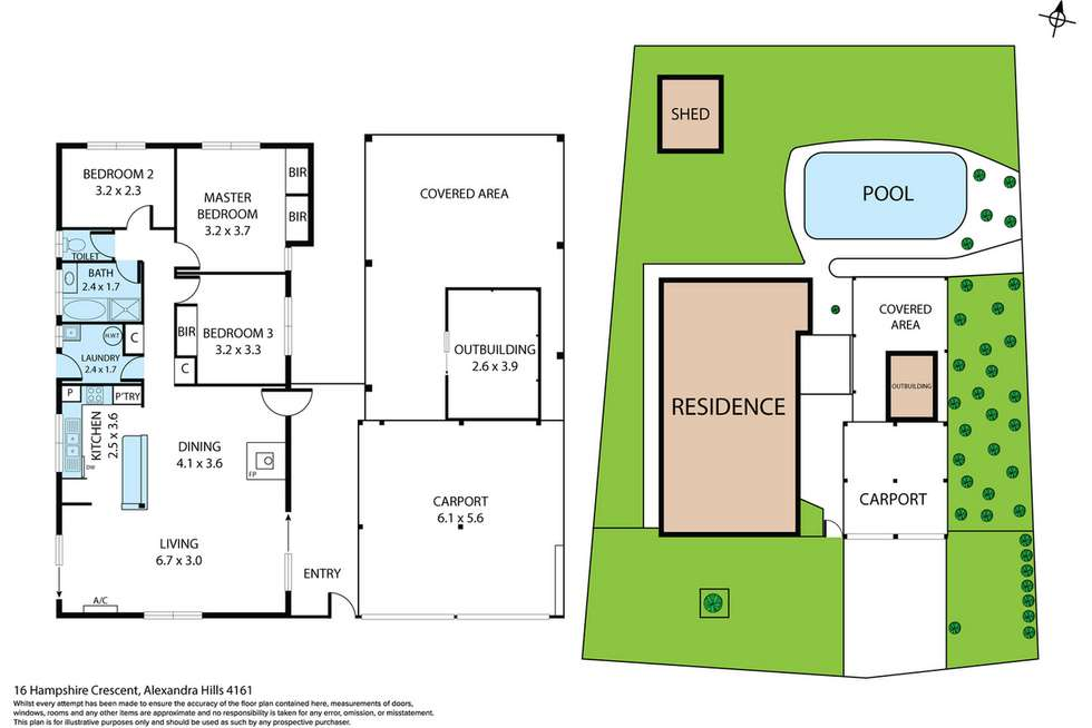 Floorplan of Homely house listing, 16 Hampshire Crescent, Alexandra Hills QLD 4161