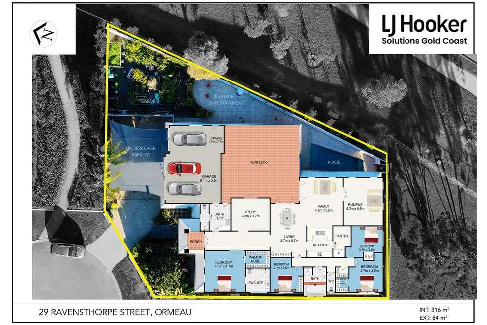 Floorplan of Homely house listing, 29 Ravensthorpe Street, Ormeau QLD 4208
