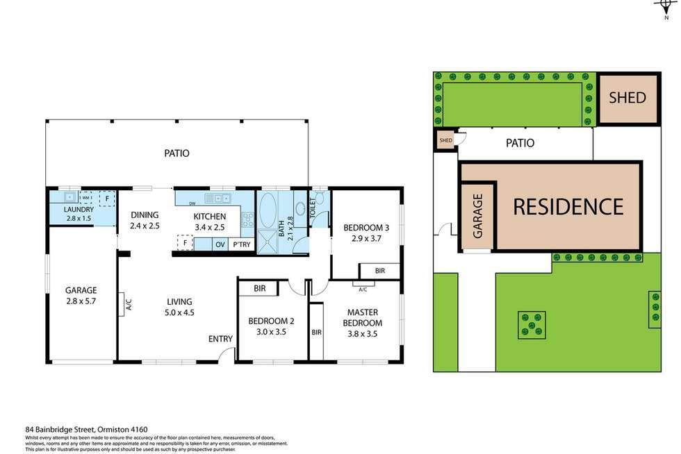 Floorplan of Homely house listing, 84 Bainbridge Street, Ormiston QLD 4160