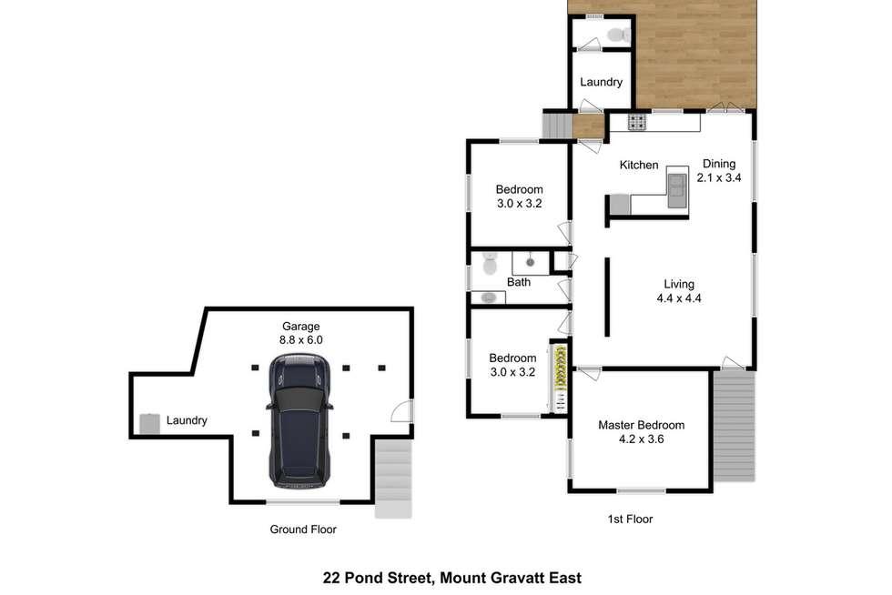 Floorplan of Homely house listing, 22 Pond Street, Mount Gravatt East QLD 4122