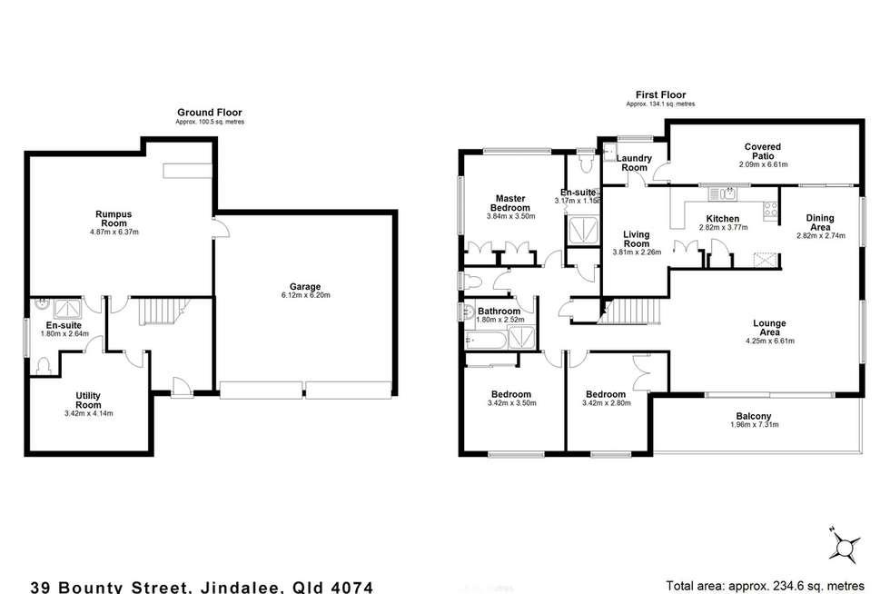 Floorplan of Homely house listing, 39 Bounty Street, Jindalee QLD 4074