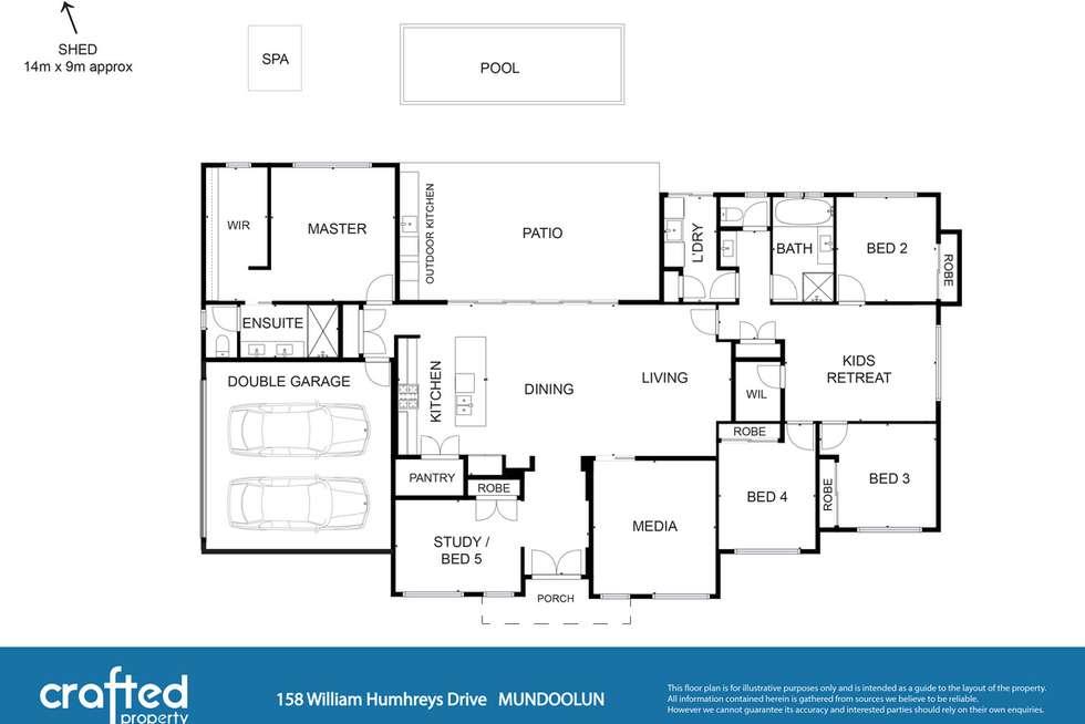 Floorplan of Homely house listing, 158 William Humphreys Drive, Mundoolun QLD 4285