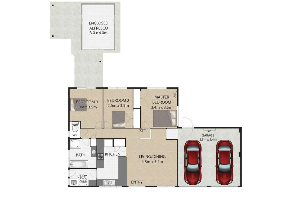 Floorplan of Homely house listing, 3 Nereid Street, Capalaba QLD 4157